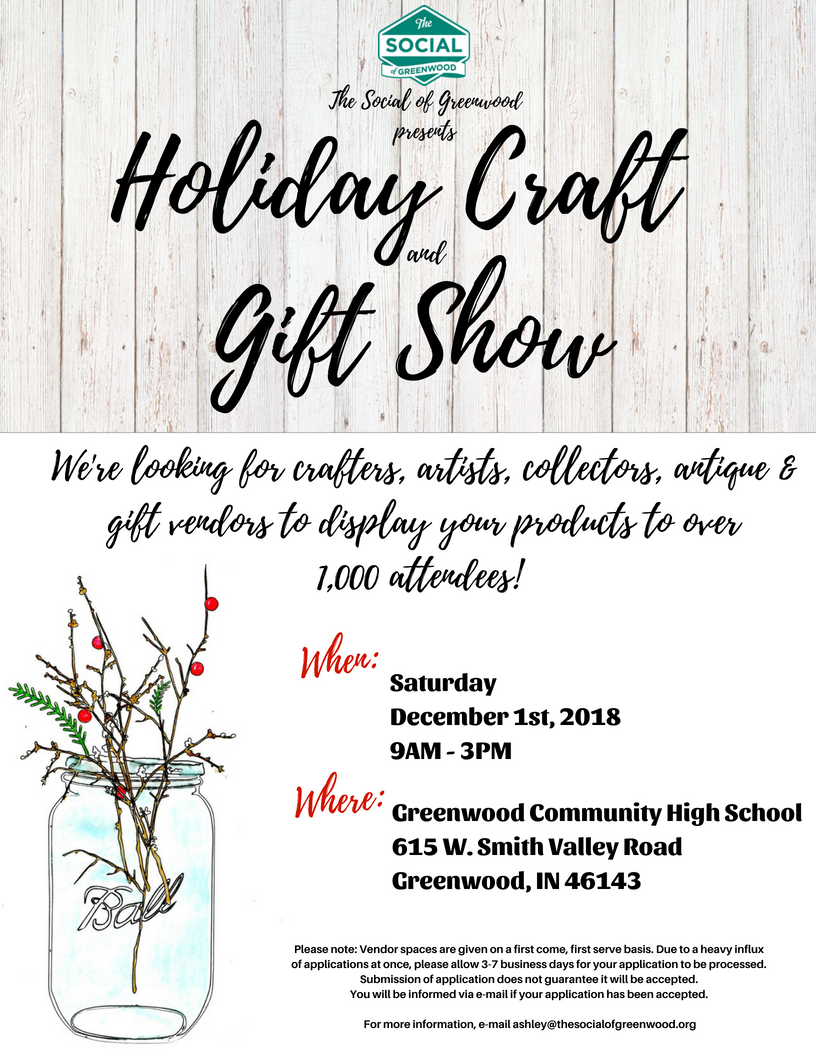 Greenwood Social Holiday Craft And Gift Show